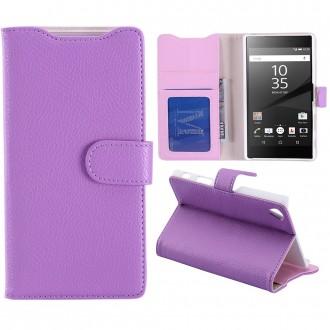 Etui Sony Xperia Z5 Premium Portecartes Violet - Crazy Kase