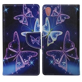Etui Sony Xperia Z5 Premium motif Papillons Violets - Crazy Kase