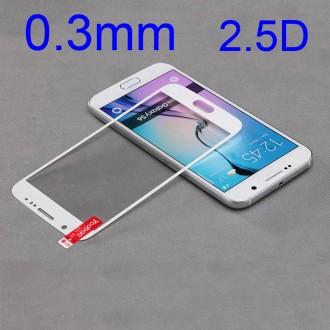 Film Galaxy S6 protection écran verre trempé contour blanc