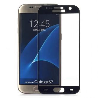 Film Galaxy S7 protection écran verre trempé contour noir