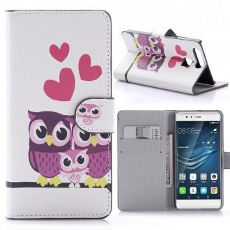 Etui Huawei P9 motif Couple de Chouette - Crazy Kase