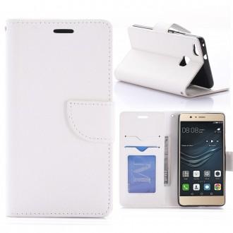 Etui Huawei P9 Lite Porte-cartes uni Blanc - Crazy Kase