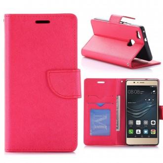 Etui Huawei P9 Lite Porte-cartes uni Rouge - Crazy Kase