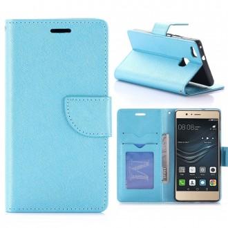 Etui Huawei P9 Lite Porte-cartes uni Bleu - Crazy Kase