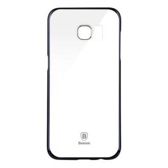 Coque Galaxy S7 Edge Transparente contour Argenté - Baseus
