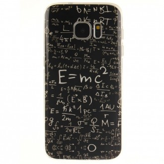 Coque Galaxy S7 Noire motif Formules Mathématiques- Crazy Kase