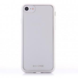 Coque iPhone 8 / iPhone 7 Transparente contour Argenté - G-Case