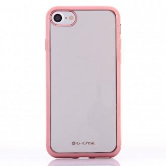 Coque iPhone 8 / iPhone 7 Transparente contour Rose - G-Case