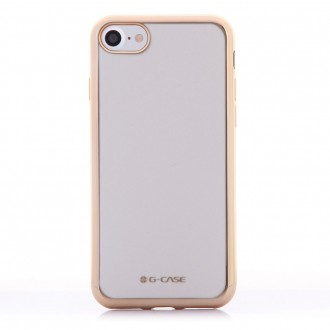 Coque iPhone 8 / iPhone 7 Transparente contour Doré - G-Case
