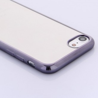 Coque iPhone 7 Transparente contour Noir - G-Case