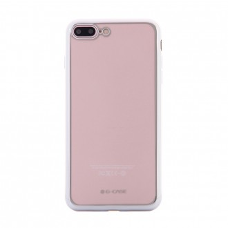 Coque iPhone 8 Plus/7 Plus Transparente contour Argenté - G-Case