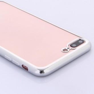 Coque iPhone 7 Plus Transparente contour Argenté - G-Case
