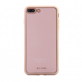Coque iPhone 8 Plus/7 Plus Transparente contour Doré - G-Case