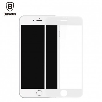 Film iPhone 7 Plus protection écran verre trempé contour Blanc - Baseus