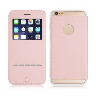 Etui iPhone 6 Plus / 6S Plus Rose avec fenêtre - G-Case