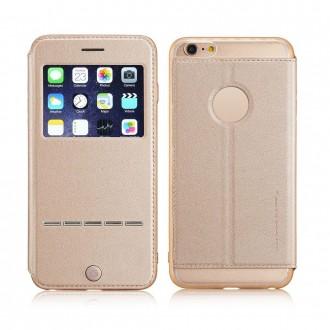 Etui iPhone 6 Plus / 6S Plus Doré avec fenêtre - G-Case