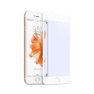 Film iPhone 6 Plus /6S Plus protection écran verre trempé Anti-lumière Bleue contour Blanc - Hoco