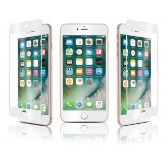 Film iPhone 7 Plus protection écran verre trempé contour Blanc - Qdos