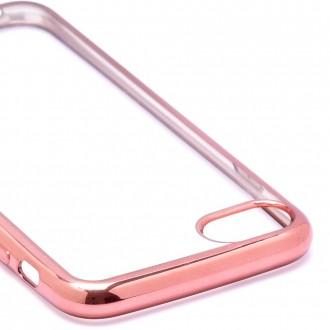 Coque iPhone 7 Transparente souple contour Rose - Crazy Kase
