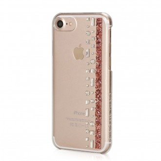 Coque iPhone 8 / iPhone 7 Hermitage Rose Gold Strass Cristal et Rose Swarovski - Bling My Thing