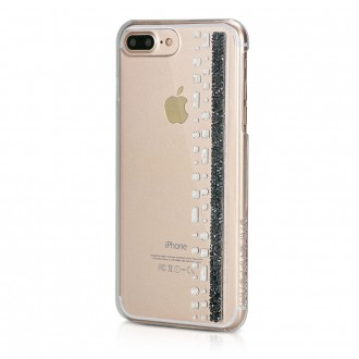 Coque iPhone 8 Plus/7 Plus Hermitage Jet avec cristaux de Swarovski - Bling My Thing