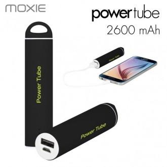 Batterie de secours Noire 2600 mAh câble micro usb et connecteur Lightning inclus - Moxie