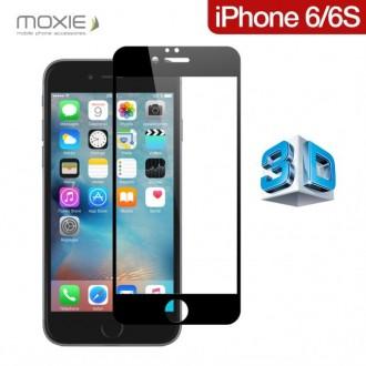 Film iPhone 6 / 6S protection écran verre trempé contour Noir pose sans bulle - Moxie