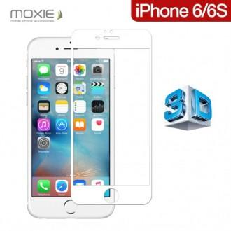 Film iPhone 6 / 6S protection écran verre trempé contour Blanc pose sans bulle - Moxie