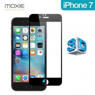 Film iPhone 7 protection écran verre trempé contour Noir pose sans bulle - Moxie