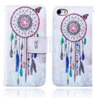 Etui iPhone SE / 5S /5 motif Attrape Rêves et Papillon - Crazy Kase
