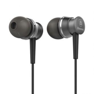 Écouteurs avec télécommande et micro Noir - Baseus