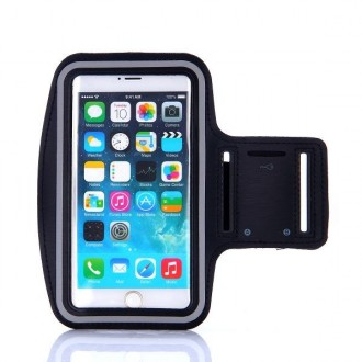 Brassard sport iPhone 6 Plus Nylon Noir - Crazy Kase