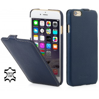 Etui iPhone 6 / 6S Ultraslim Bleu Marine en cuir véritable - Stilgut