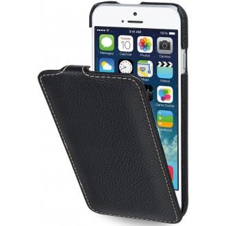 Etui iPhone 6 / 6S Ultraslim grainé noir en cuir véritable - Stilgut