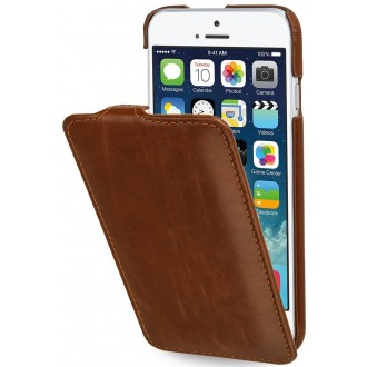 Etui iPhone 6 / 6S Ultraslim cognac en cuir véritable - Stilgut