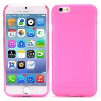Coque iPhone 6 / 6S Rose transparente souple - Crazy Kase