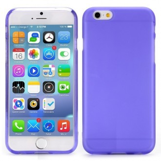 Coque iPhone 6 / 6S Violette transparente souple - Crazy Kase