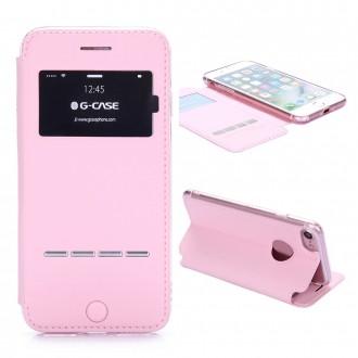 Etui iPhone 7 Rose avec fenêtre - G-Case