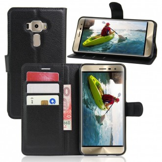 Etui Zen Fone 3 ZE520KL Porte-cartes Noir - Crazy Kase
