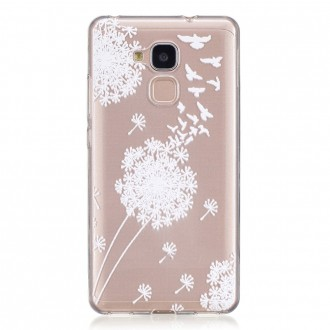 Coque Honor 5C Transparente souple motif fleurs blanches - Crazy Kase