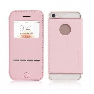 Etui iPhone SE / 5S / 5 Rose avec fenêtre - G-Case