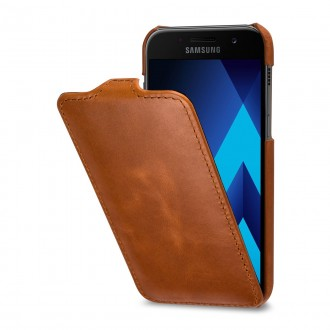 Etui Galaxy A3 (2017) ultraslim cognac en cuir véritable - Stilgut