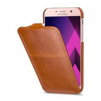 Etui Galaxy A5 (2017) ultraslim cognac en cuir véritable - Stilgut