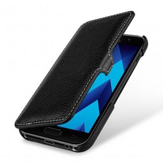 Etui Galaxy A5 (2017) book type noir en cuir véritable - Stilgut