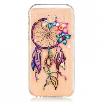 Coque Galaxy A5 (2017) Transparente souple motif Attrape Rêves Coloré et Fleurs - Crazy Kase
