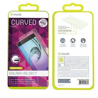 Film Galaxy A5 (2017) protection écran verre trempé incurvé - Muvit