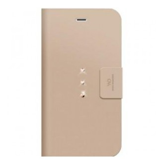 "Etui universel pour smartphone jusqu'à 4.6"" porte-cartes rose gold avec crystal - White Diamonds"