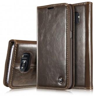 Etui Samsung Galaxy S7 Edge Portefeuille Marron - CaseMe