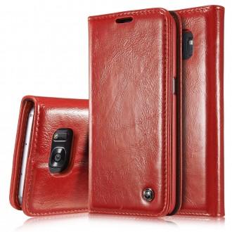 Etui Samsung Galaxy S7 Edge Portefeuille Rouge - CaseMe