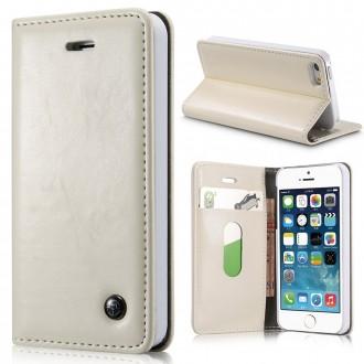Etui iPhone SE/5/5S Portefeuille Blanc - CaseMe